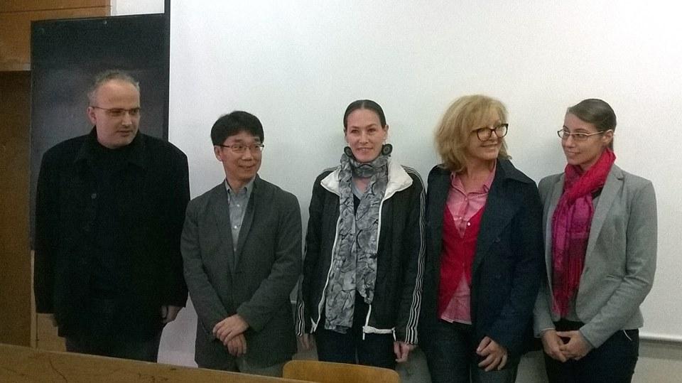 """Д-р Йокой от офталмологичния департамент на Университета в Киотогостува на специалност Оптометрия в СУ """"Климент Охридски"""", 05 октомври 2015"""